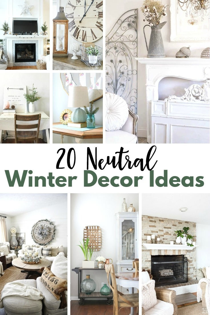 Neutral Winter Decor Ideas