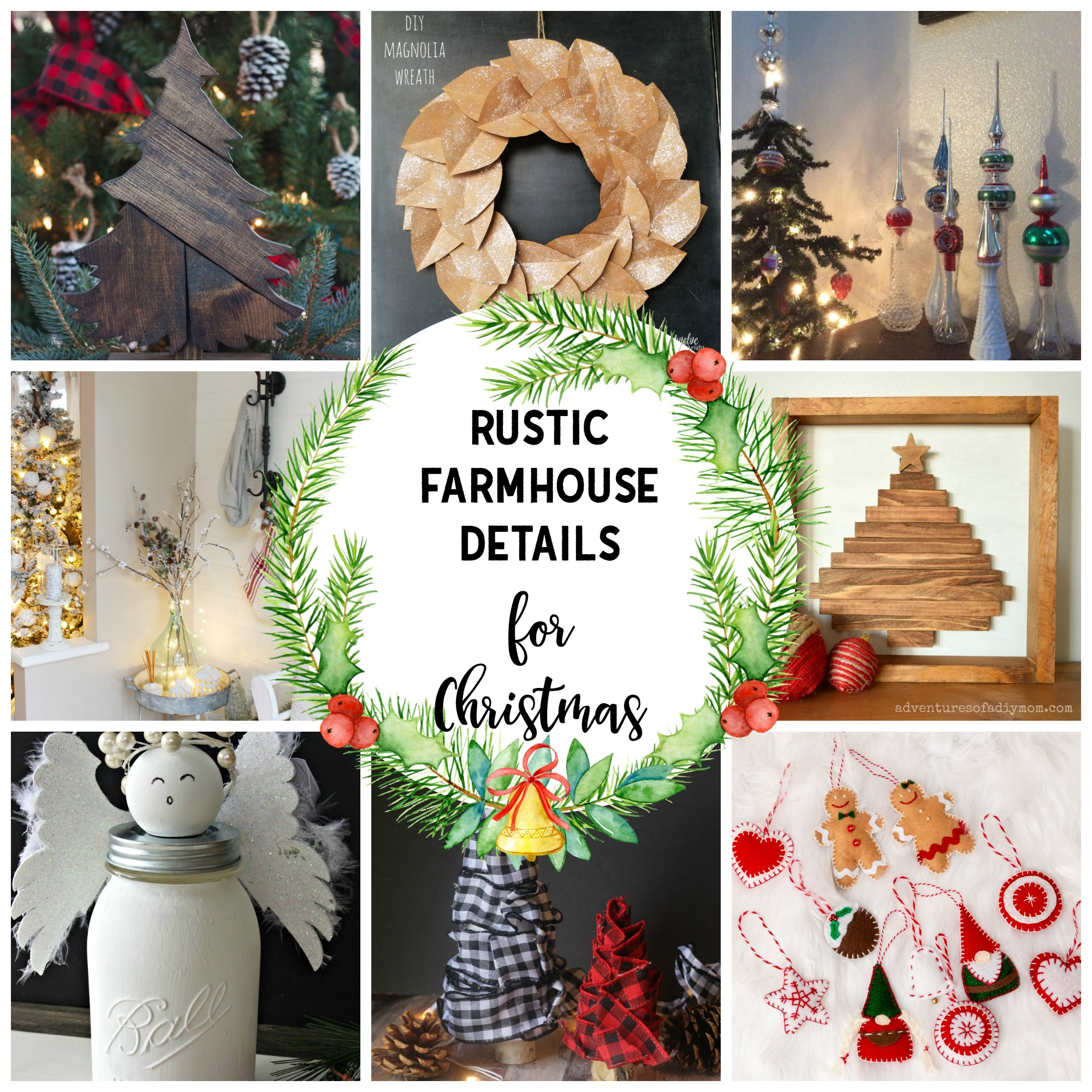 Rustic Farmhouse Details for Christmas