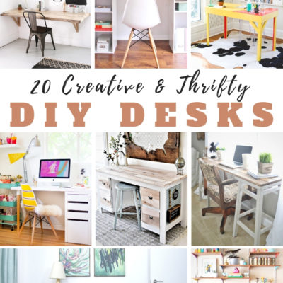 20 Creative & Thrifty DIY Desks