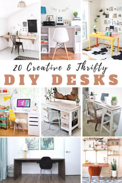 20 Creative & Thrifty DIY Desks