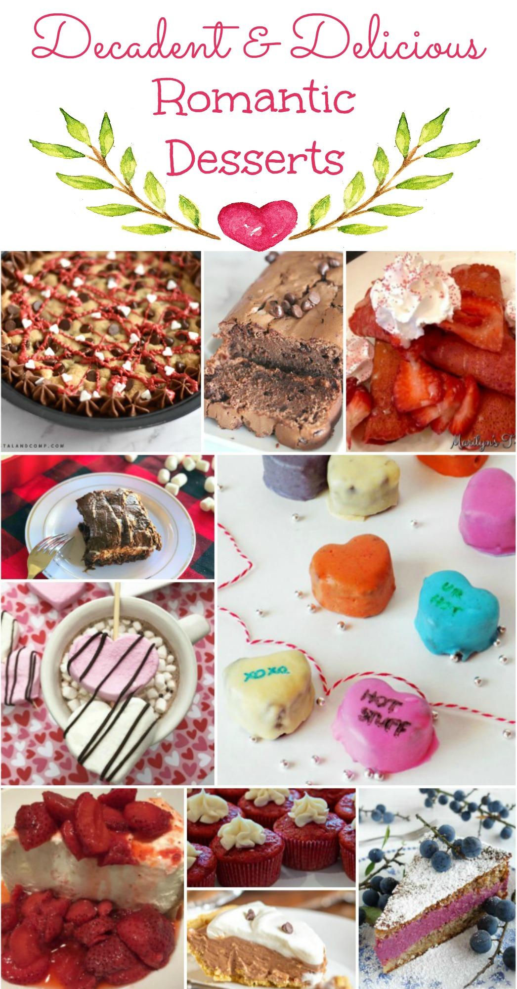 Decadent & Delicious Romantic Desserts