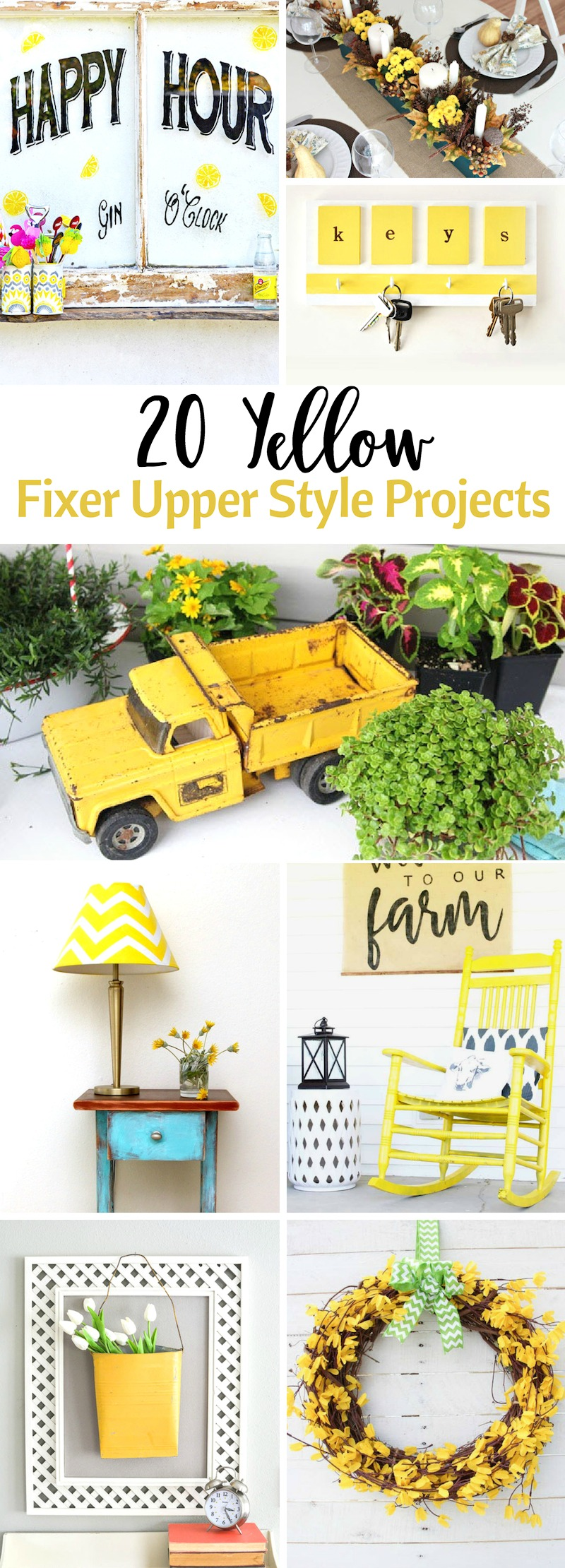 Yellow Fixer Upper Style Projects