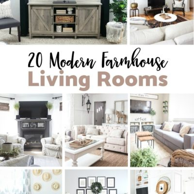 20 Modern Farmhouse Living Rooms