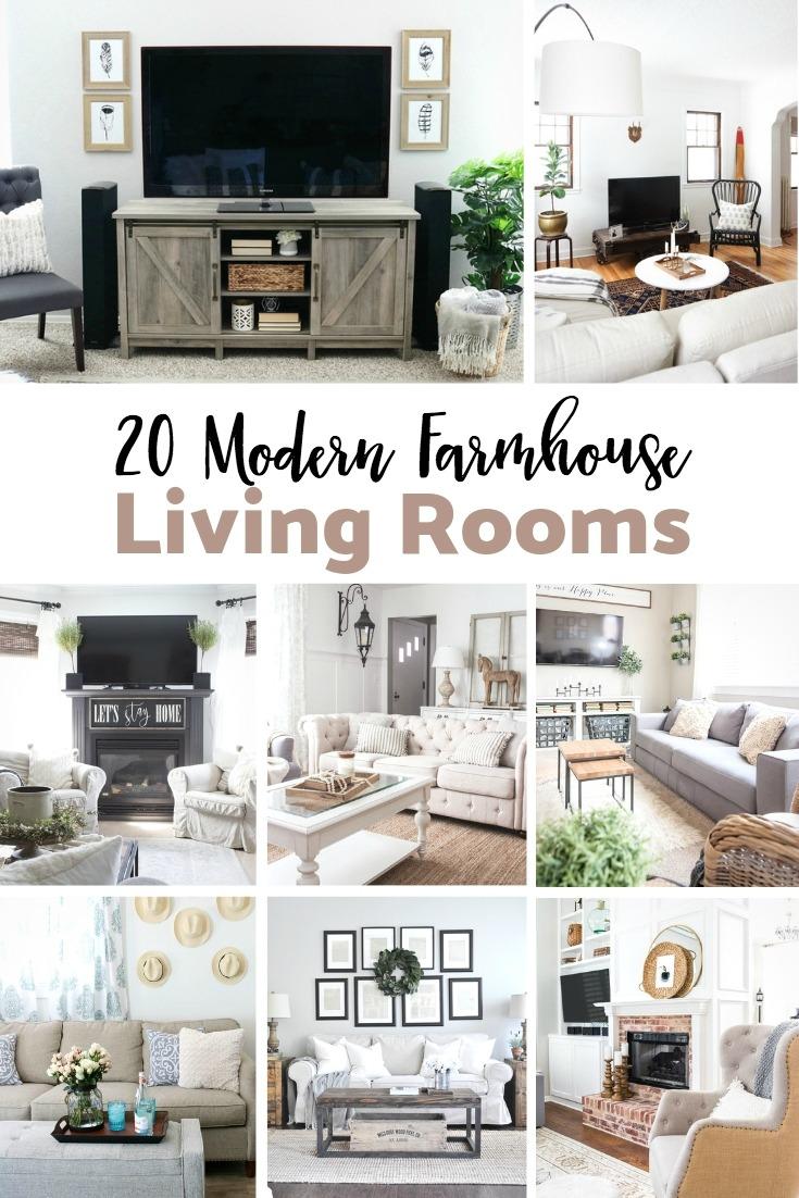 Modern Farmhouse Living Rooms