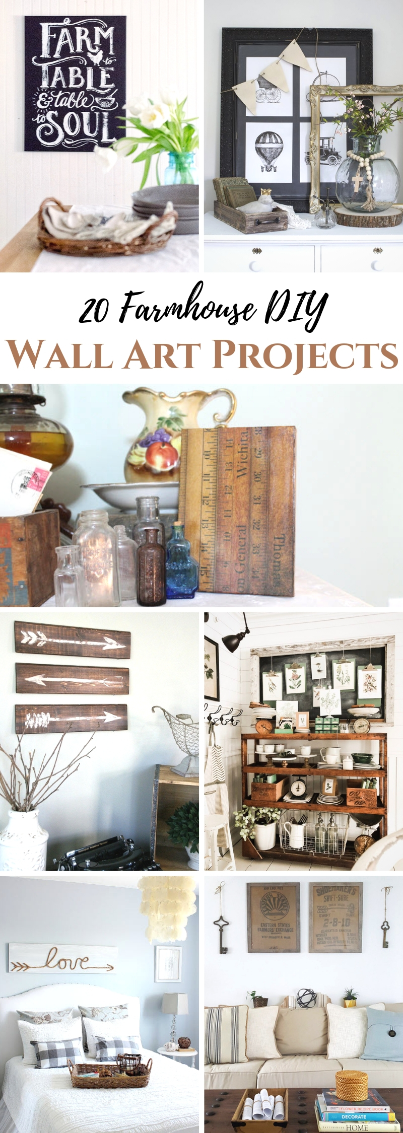 20 Farmhouse DIY Wall Projects
