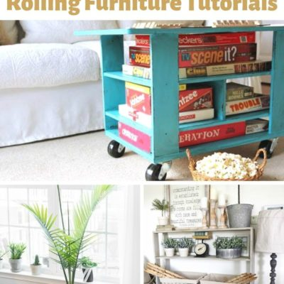 20 Amazing DIY Rolling Furniture Tutorials