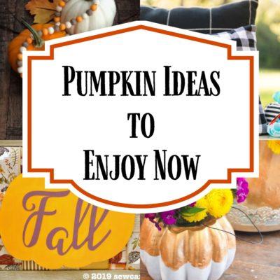 9 Pumpkin Ideas to Enjoy Now