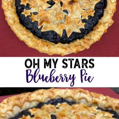 Oh My Stars Blueberry Pie