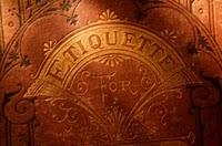 Etiquette book plate