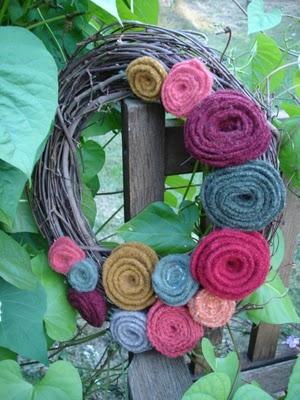 Rosy Fall Wreath