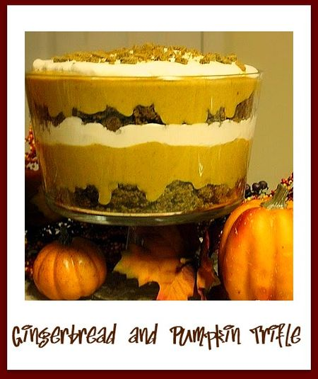 Gingerbread and Pumpkin Trifle