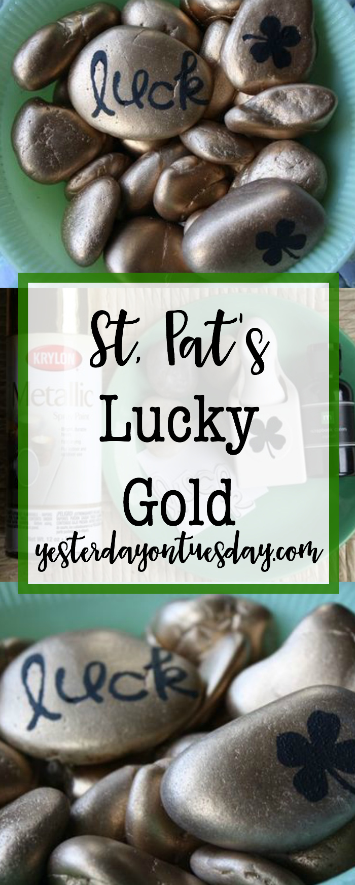 St. Pat's Lucky Gold: Festive decor projects for St. Patrick's Day, sure to bring you good luck!