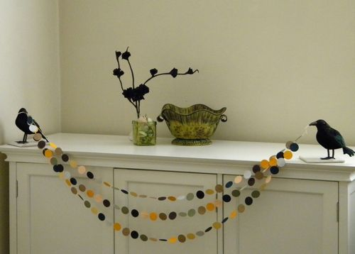 Crow and Paper Garland