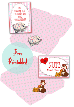New Vintage Valentines freebies for YOT by FPTFY 4