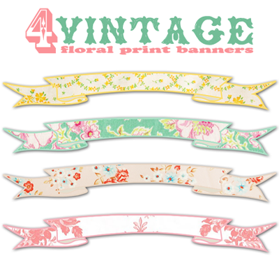 A Shabby Blogs vintage Banners scrolls by FPTFY web ex