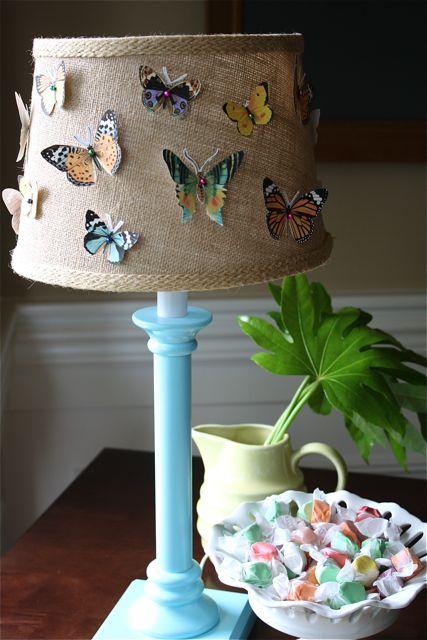 Butterfly specimen lamp large