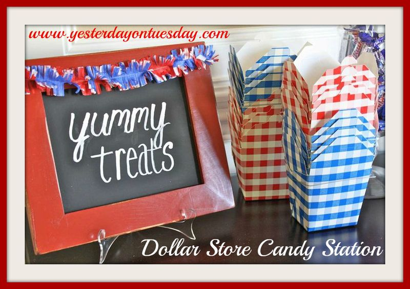 Yesterday on Tuesday-Dollar Store Candy Station