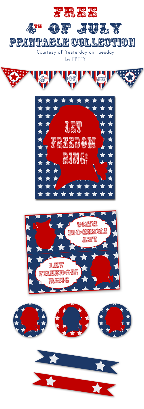 FREE 4th of July Printables: Patriotic Party Package