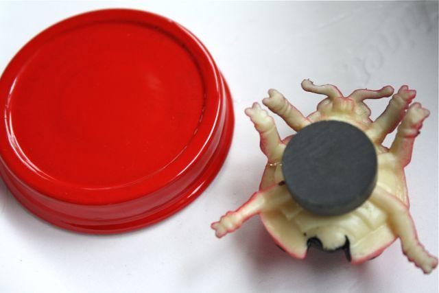 Adhering Magnet Magnetic Bug Jars Ladybug - Yesterday on Tuesday