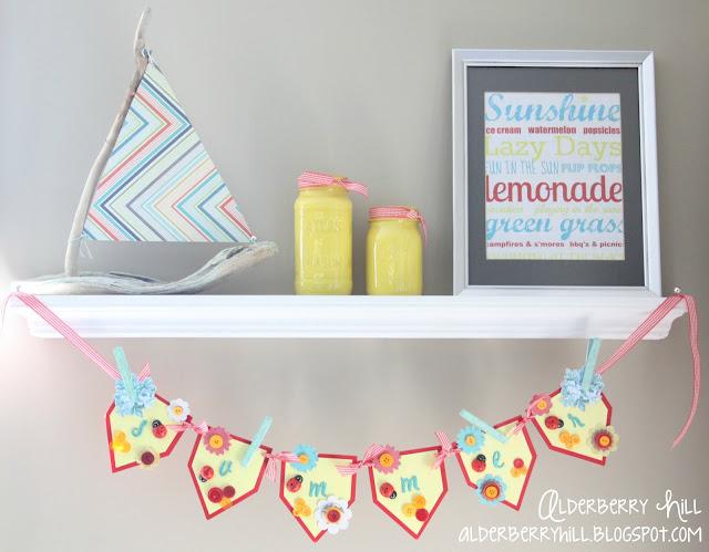 A summer shelf
