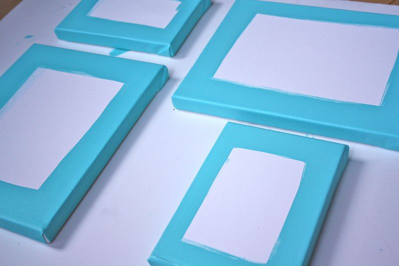Painted Gallery Frames - Yesterday on Tuesday