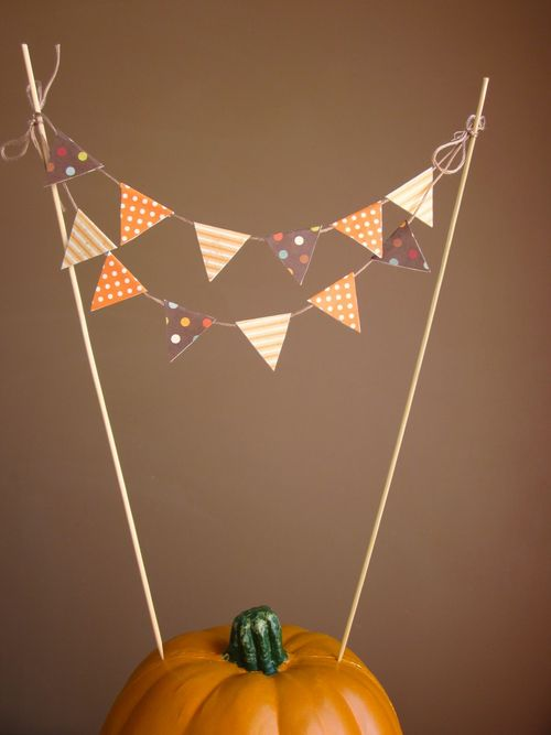 Pennant Cake or Pie Topper