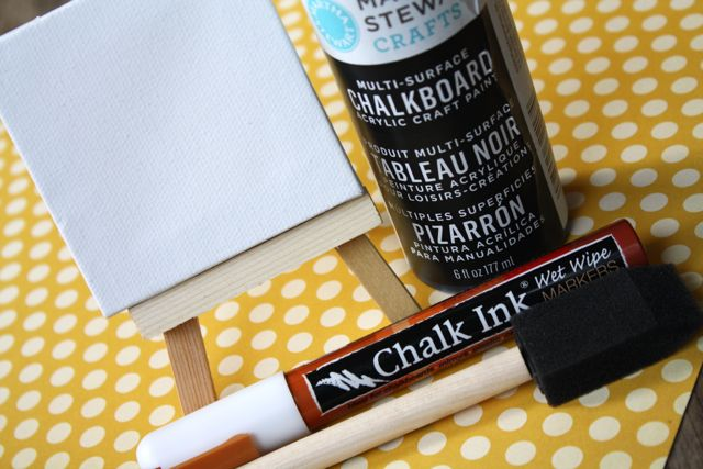 Mini Chalkboard Placecards Supplies - Yesterday on Tuesday