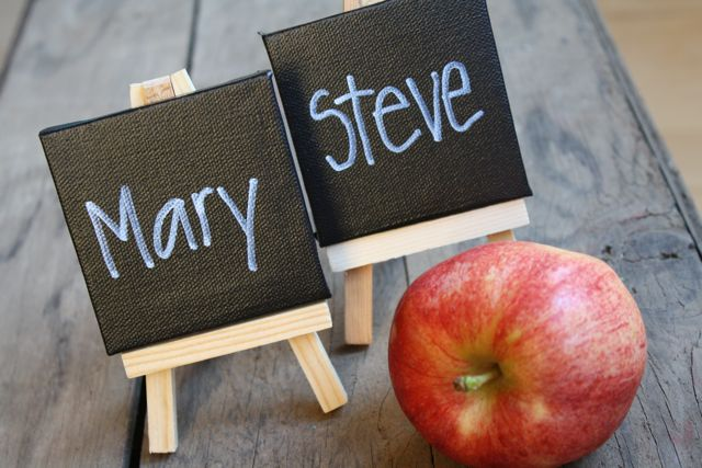 Finished Mini Chalkboard Placecards - Yesterday on Tuesday