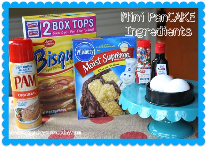 Birthday Pancake Ingredients - Yesterday on Tuesday