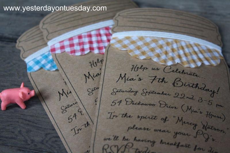 Invites Mercy Watson Birthday - Yesterday on Tuesday #mercywatson #pigparty
