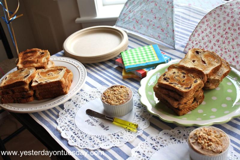 Toast Mercy Watson Birthday - Yesterday on Tuesday #mercywatson #pigparty
