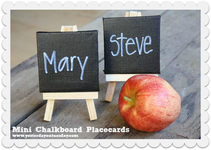 Mini Chalkboard Placecards - Yesterday on Tuesday