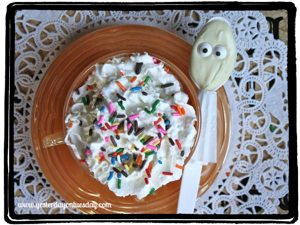 Ghostie Spoon Hot Chocolate  - Yesterday on Tuesday