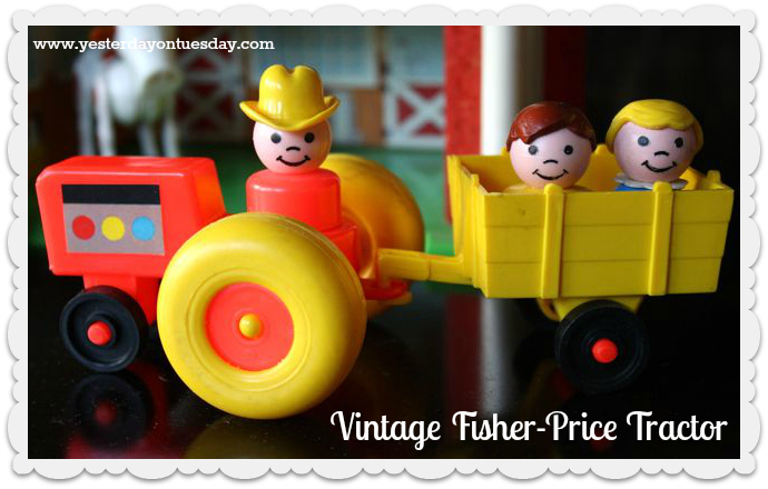 Vintage Fisher Price Tractor - Yesterday on Tuesday