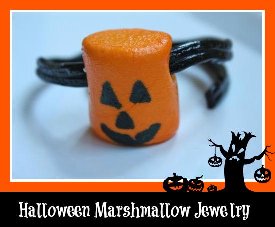 Halloween Marshmallow Jewelry- Yesterday on Tuesday