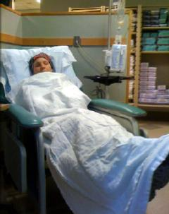 Michelle getting chemo