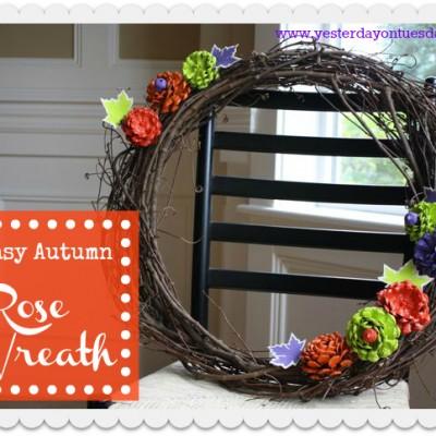 Easy Autumn Rose Wreath