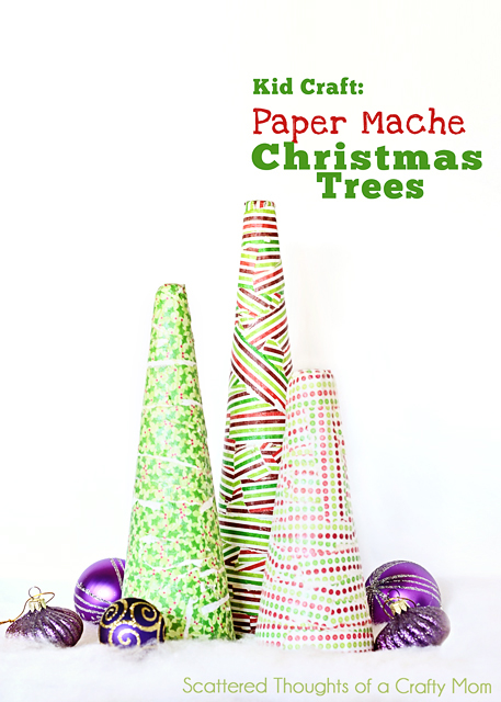 Paper Mache Xmas Tree