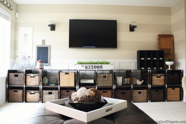 DIY Family Room Makeover
