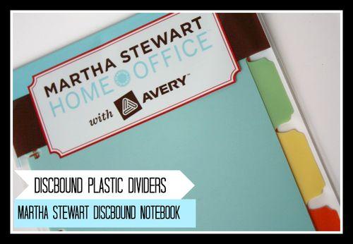 Martha Stewart Discbound Notebook - Yesterday on Tuesday #avery #martha stewart home office #staples