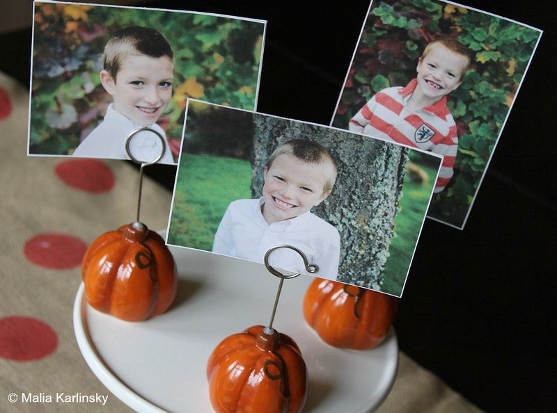 Photo Place Cards - Yesterday on Tuesday #thanksgiving