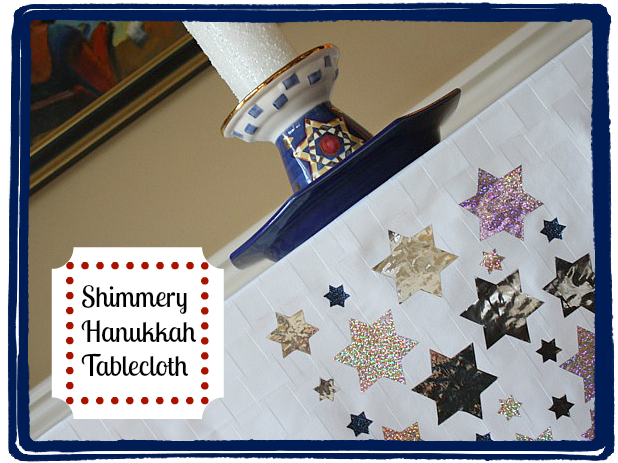 Shimmery Hannukah Tablecloth - Tulip #TulipShimmer