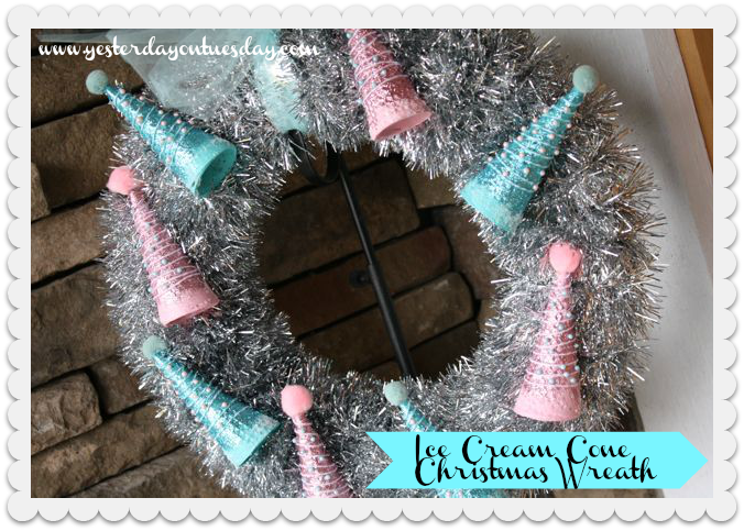 Pink + Aqua Christmas Wreath