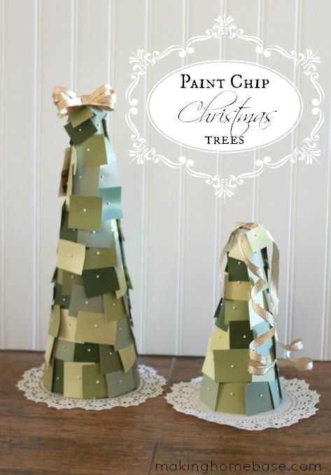 Paint Chip Christmas Tree