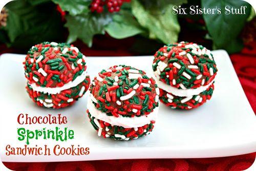 Chocolate Sprinkle Sandwich Cookies