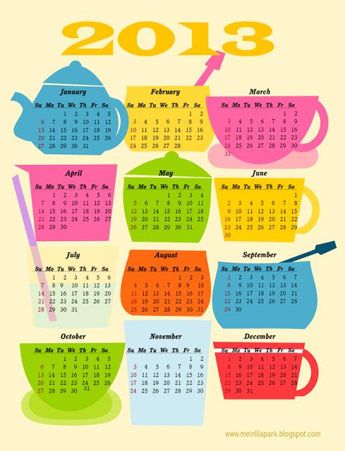 Coffee Break Calendar - MeinLilaPark #freecalendar