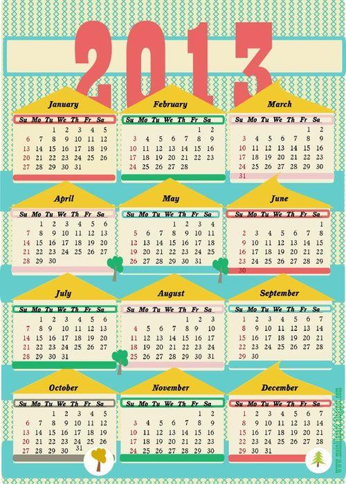 House Calendar - MeinLilaPark #freecalendar