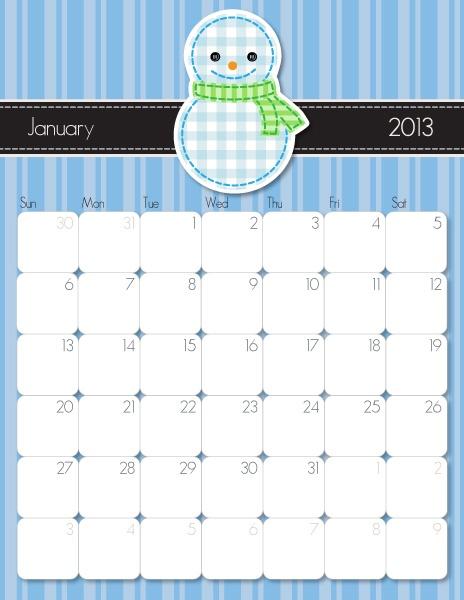 Monthly Calendars - iMom #freecalendar