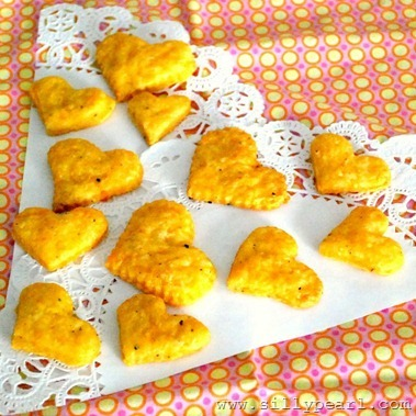 Cheesy Heart Crackers - The Silly Pearl on Multiples in the Kitchen_thumb