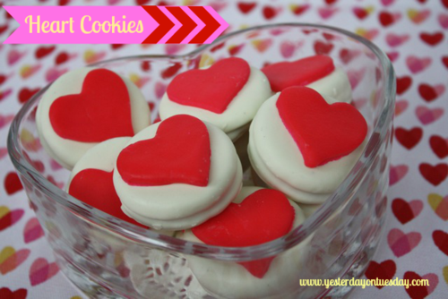 Heart Cookies - Yesterday on Tuesday